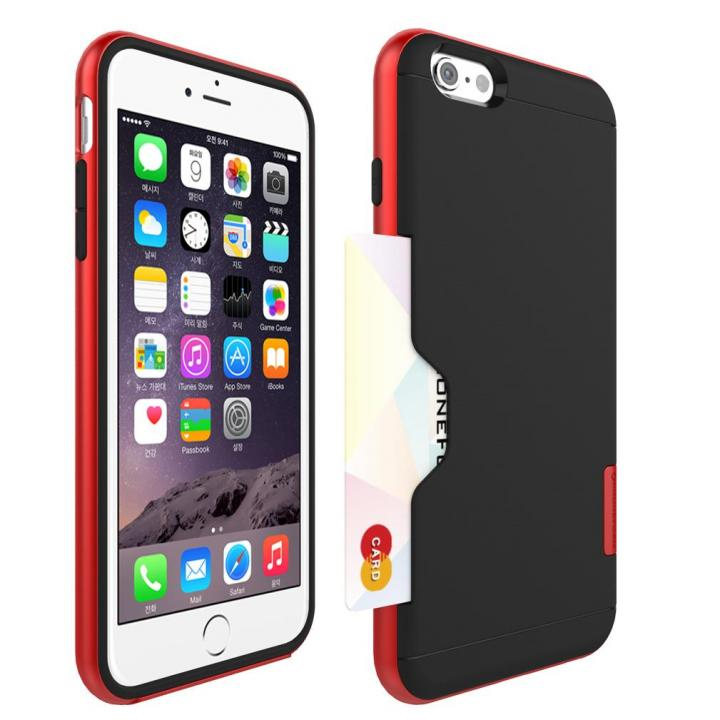 PhoneFoam LINE カード収納機能付きケース ローズレッド iPhone 6 Plus