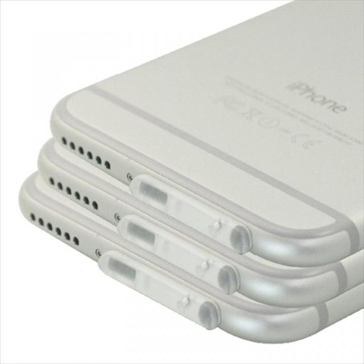 Lightningコネクタ TPUダブルキャップ3個セット クリア iPhone 6_0
