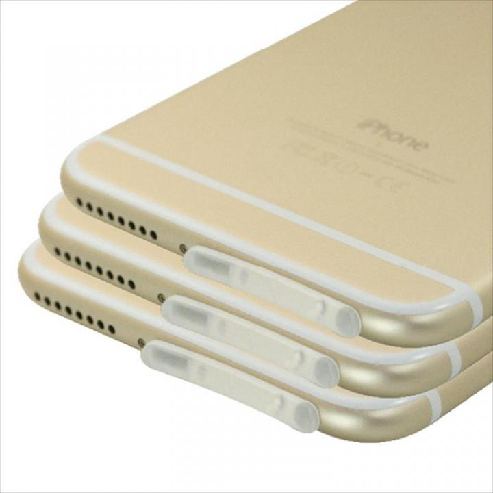 Lightningコネクタ TPUダブルキャップ3個セット クリア iPhone 6 Plus_0
