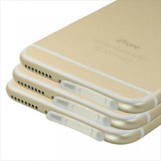 Lightningコネクタ TPUダブルキャップ3個セット クリア iPhone 6 Plus