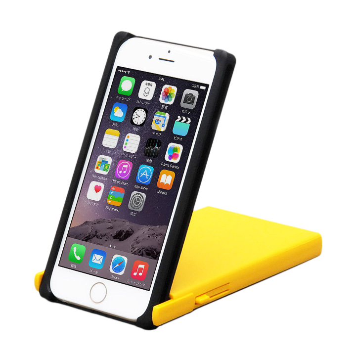 【iPhone6ケース】ヌンチャクケース Trick Cover ブラック/イエロー iPhone 6_0