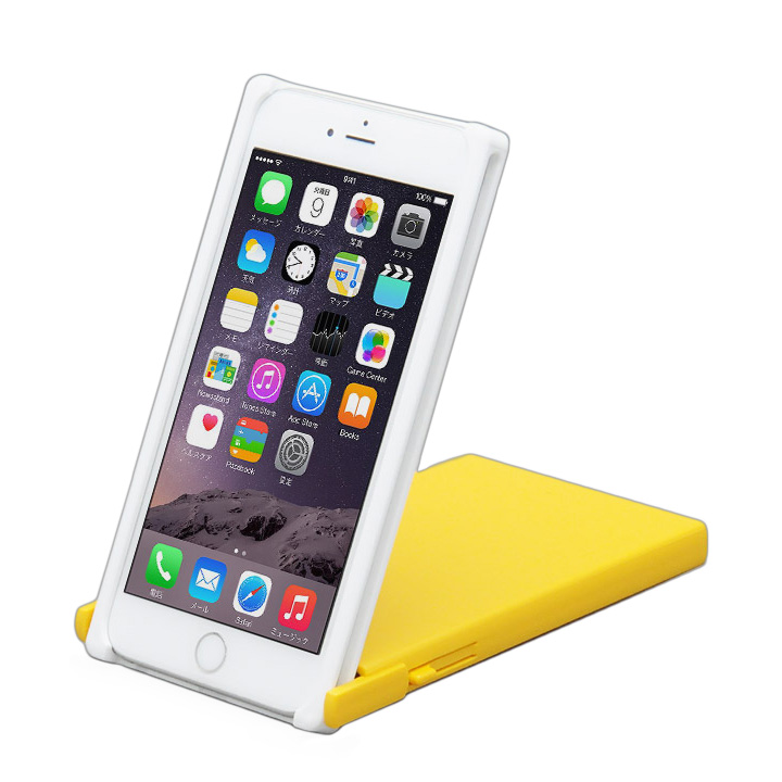 iPhone6 Plus ケース ヌンチャクケース Trick Cover ホワイト/イエロー iPhone 6 Plus_0