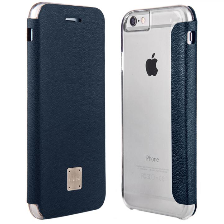 【iPhone6ケース】イタリア産カウハイドレザー使用手帳型ケース truffol Reveal ネイビー iPhone 6_0