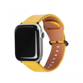 Apple Watch 44mm/42mm用 GENUINE LEATHER STRAP イエロー