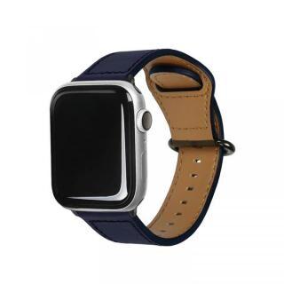 Apple Watch 44mm/42mm用 GENUINE LEATHER STRAP ネイビー