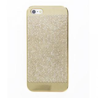 【iPhone SE/5s/5ケース】スイスデザイン スワロフスキーケース ゴールド(Gold Swarovski) iPhone SE/5s/5ケース
