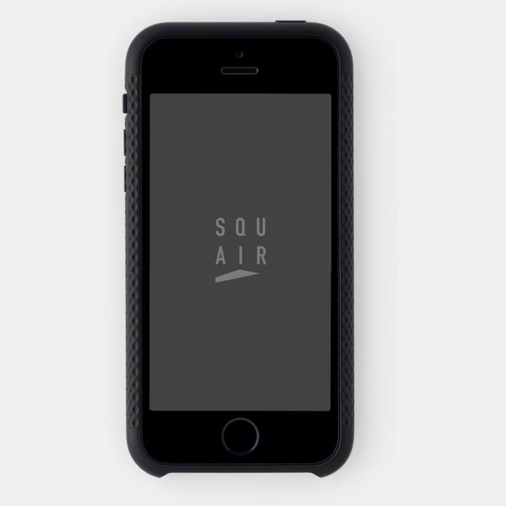 超々ジュラルミンA7075 4分割バンパー ブラック iPhone SE/5s/5バンパー