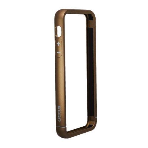 iPhone SE/5s/5 ケース 工具不要のアルミニウムバンパー ブラウン_0