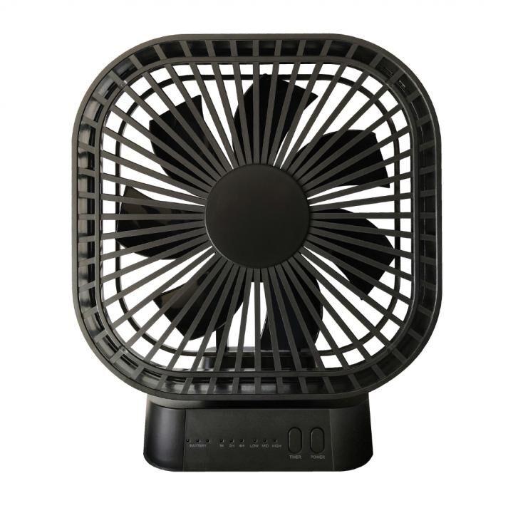 マグネット式 静音扇風機 ブラック_0