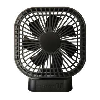 マグネット式 静音扇風機 ブラック