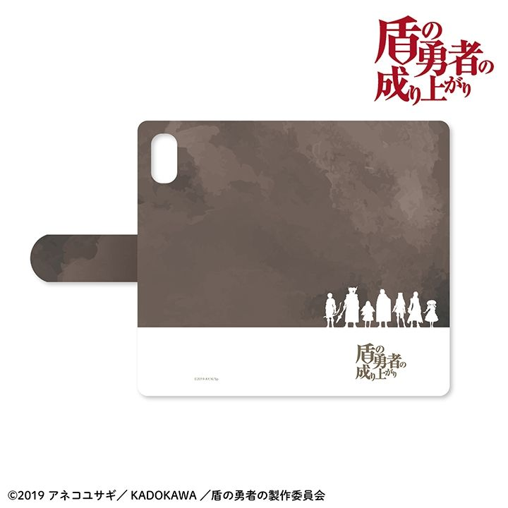 iPhone XR ケース 盾の勇者の成り上がり 手帳型ケース iPhone XR【8月上旬】_0