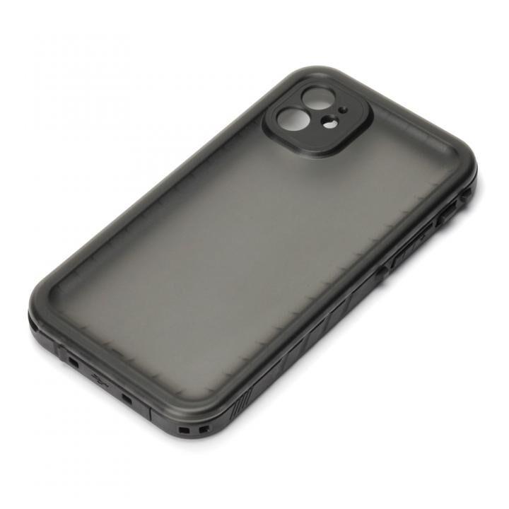 iPhone 11 ケース ウォータープルーフケース IP68防水・防塵 ブラック iPhone 11_0
