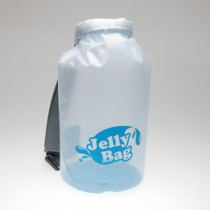 丸底デザインの防水バッグ Jelly Bag 10L ブルー