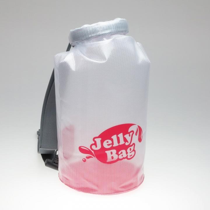 丸底デザインの防水バッグ Jelly Bag 10L ピンク_0