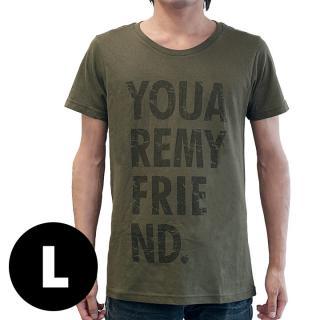 AppBankオリジナル グランジロゴTシャツ カーキ Lサイズ