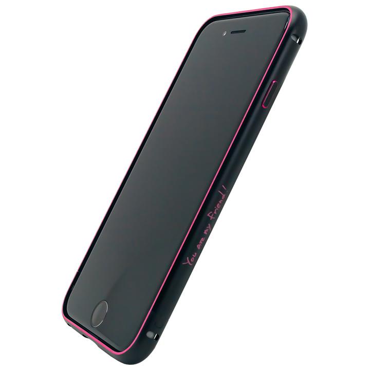 iPhone6s/6 ケース マックスむらいのメタルバンパー ブラック×レッド iPhone 6s/6_0