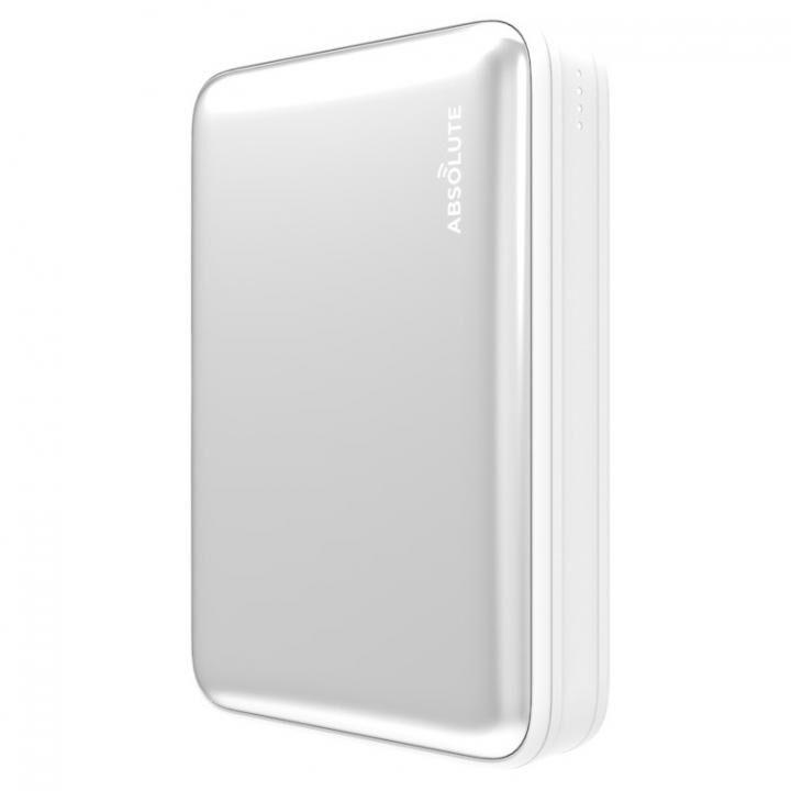 Fast Charge mini 10000 Type-C PD・QC3.0搭載モバイルバッテリー シルバー x ホワイト_0