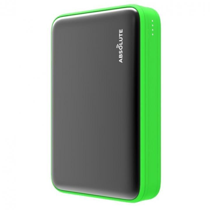 Fast Charge mini 10000 Type-C PD・QC3.0搭載モバイルバッテリー ブラック x グリーン_0