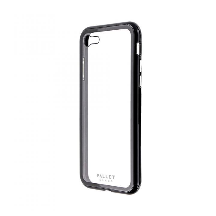 iPhone8/7 ケース 強化ガラスハイブリッドケース PALLET GLASS クリアブラック iPhone SE 第2世代/8/7_0