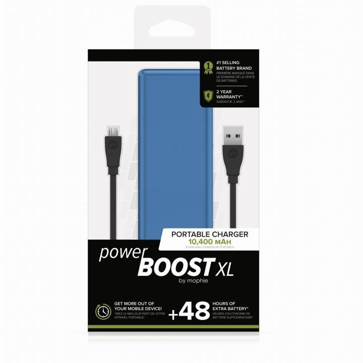 mophie Power Boost XL モバイルバッテリー [10400mAh] ブルー_0