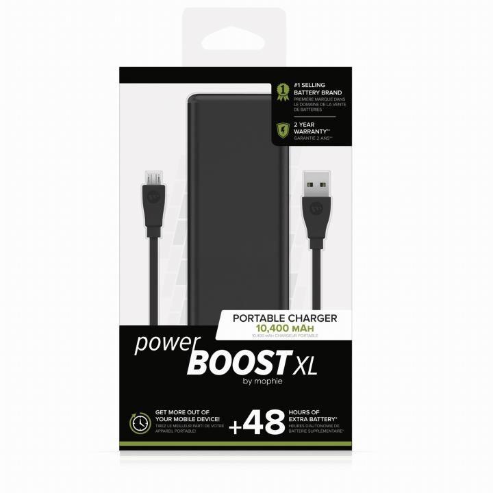mophie Power Boost XL モバイルバッテリー [10400mAh] ブラック_0