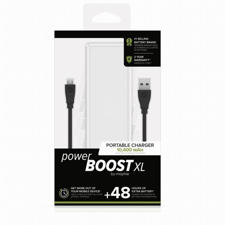 mophie Power Boost XL モバイルバッテリー [10400mAh] ホワイト_0
