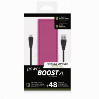 mophie Power Boost XL モバイルバッテリー [10400mAh] ピンク