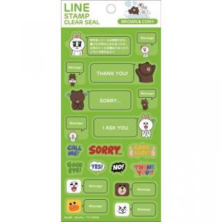 LINE クリアシール ブラウン&コニー