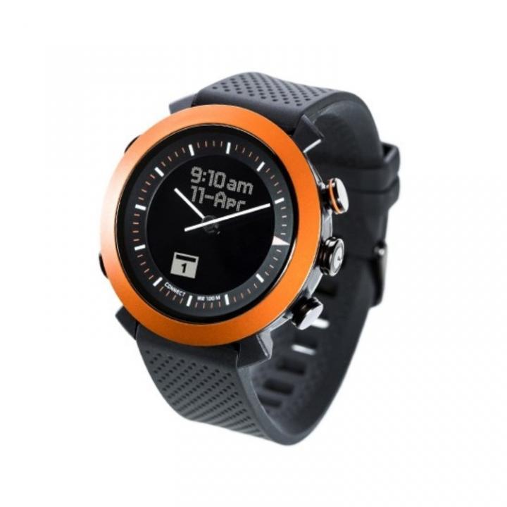 スマホ連動 無線対応アナログ文字盤腕時計 COGITO CLASSIC オレンジ_0