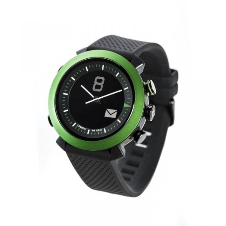 スマホ連動 無線対応アナログ文字盤腕時計 COGITO CLASSIC グリーン_0