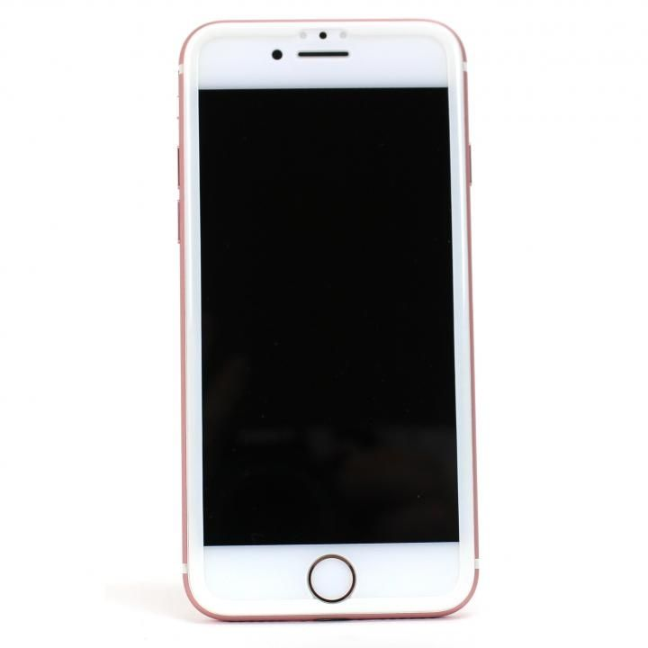 iPhone7/6s/6 フィルム TPUフレーム付き超高度強化ガラスフィルム for iPhone 7/6s/6 ホワイト_0