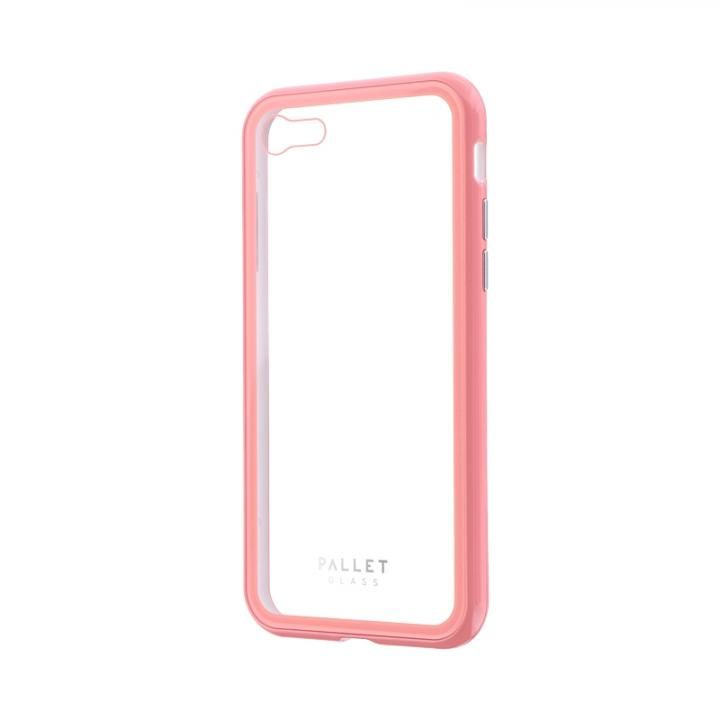 iPhone8/7 ケース 強化ガラスハイブリッドケース PALLET GLASS クリアピンク iPhone SE 第2世代/8/7_0