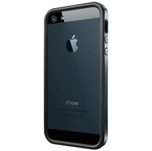 【iPhone SE/5s/5ケース】iPhone 5/5s ケース ネオ・ハイブリッド EX メタルシリーズ [メタル・スレート]_0