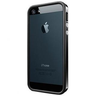 iPhone SE/5s/5 ケース ネオ・ハイブリッド EX ビビッドシリーズ [ソウル・ブラック]
