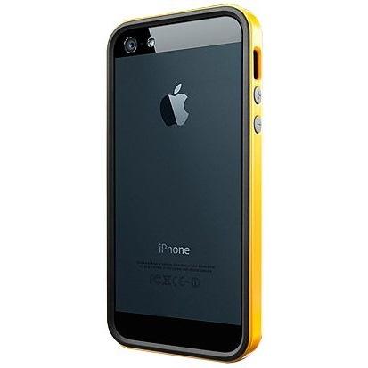 【iPhone SE/5s/5ケース】iPhone SE/5s/5ケース ネオ・ハイブリッド EX ビビッドシリーズ [レベントン・イエロー]_0
