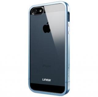 フレームを変えて印象チェンジ リニア クリスタル メタル・ブルー iPhone SE/5s/5ケース