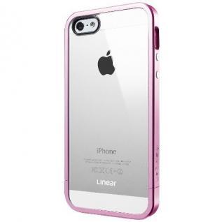 フレームを変えて印象チェンジ リニア クリスタル メタル・ピンク iPhone SE/5s/5ケース
