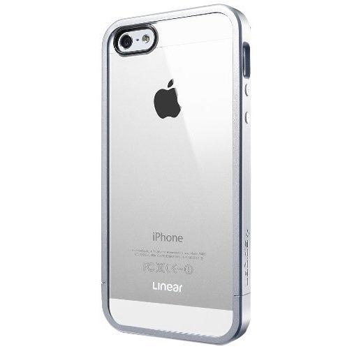 フレームを変えて印象チェンジ リニア クリスタル サテン・シルバー iPhone 5s/5ケース