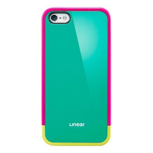 【iPhone SE/5s/5ケース】iPhone 5/5s ケース リニア ポップスシリーズ [ジェイド・グリーン]_0