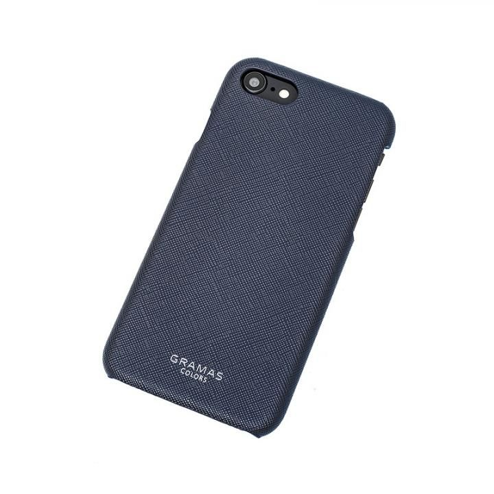 iPhone8/7 ケース GRAMAS COLORS EURO Passione Shell PU Leather 背面ケース ネイビー iPhone 8/7_0