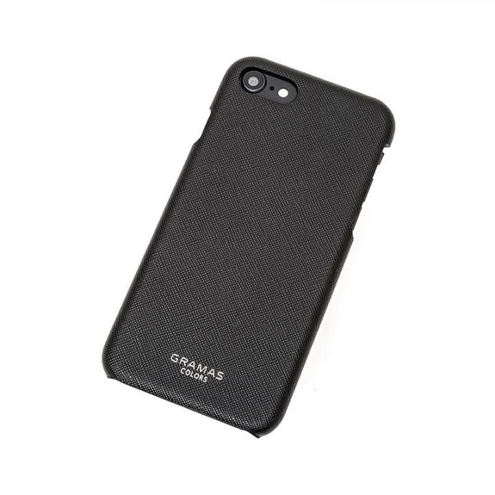 GRAMAS COLORS EURO Passione Shell PU Leather 背面ケース ブラック iPhone 8/7