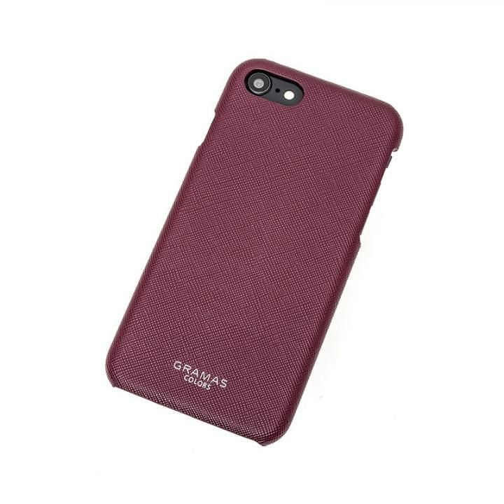 【iPhone8/7ケース】GRAMAS COLORS EURO Passione Shell PU Leather 背面ケース ワイン iPhone 8/7_0