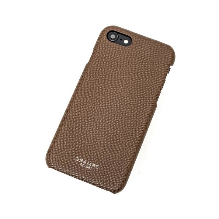 iPhone8/7 ケース GRAMAS COLORS EURO Passione Shell PU Leather 背面ケース ブラウン iPhone SE 第2世代/8/7_0