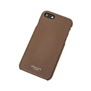 GRAMAS COLORS EURO Passione Shell PU Leather 背面ケース ブラウン iPhone 8/7