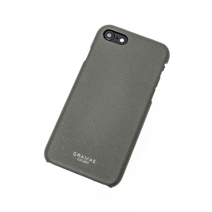 iPhone8/7 ケース GRAMAS COLORS EURO Passione Shell PU Leather 背面ケース ガンメタル iPhone SE 第2世代/8/7_0