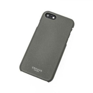 GRAMAS COLORS EURO Passione Shell PU Leather 背面ケース ガンメタル iPhone 8/7