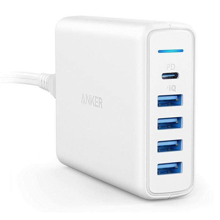 Anker PowerPort I PD - 1ポート PD & 4ポート PowerIQ ホワイト【11月下旬】_0