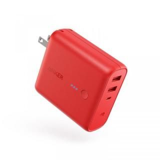 Anker PowerCore Fusion 5000 USB急速充電器/モバイルバッテリー [5000mAh] レッド【6月上旬】