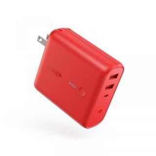 Anker PowerCore Fusion 5000 USB急速充電器/モバイルバッテリー [5000mAh] レッド【12月中旬】