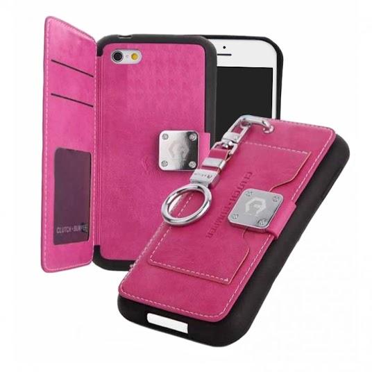 【iPhone6s/6ケース】マルチ収納ケース CLUTCH BUMPER ピンク iPhone 6s/6_0